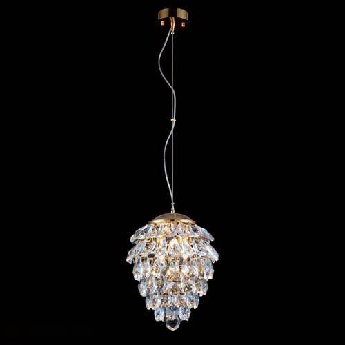 Светильник Crystal Lux CHARME SP2+2 LED ORO/CRYSTAL Charme-oroambra