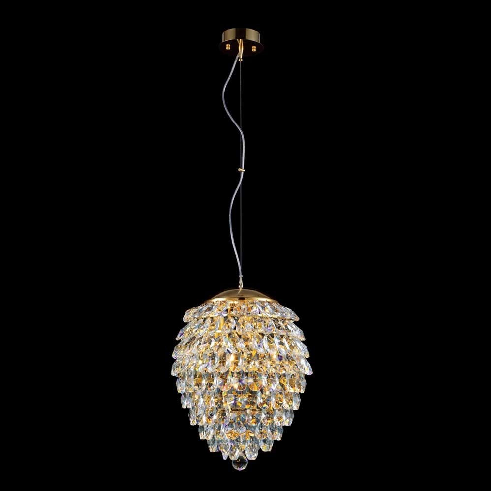 Светильник Crystal Lux CHARME SP3+3 LED ORO/CRYSTAL Charme-oroambra